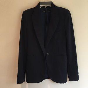 Zara Woman long navy blazer